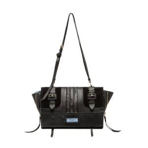 Prada Black Etiquette Patch Medium Shoulder Bag