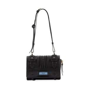 Prada Black Etiquette Patch Small Shoulder Bag
