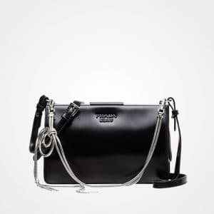 Prada Black Leather Cross-body Bag