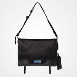 Prada Black/Astral Blue Etiquette Shoulder Bag