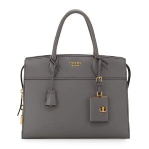 Prada Dark Gray Medium Esplanade Bag