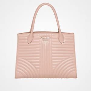 Prada Powder Pink Diagramme Top Handle Bag