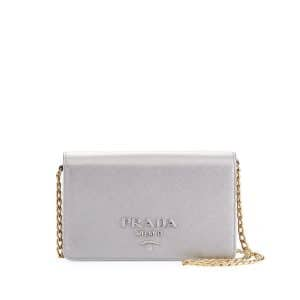 Prada Silver Monochrome Small Cross-body Bag