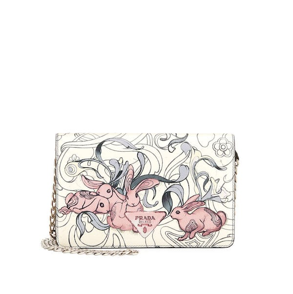 0bf875c1b453 ... leather exclusively by james jean ebe03 335ea closeout prada white bunny  print cross body bag 7993b df599 ...