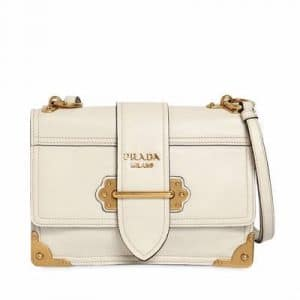 Prada White Cahier Bag