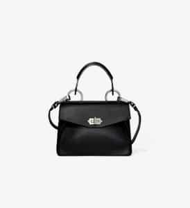 Proenza Schouler Black Hava Small Top Handle Bag