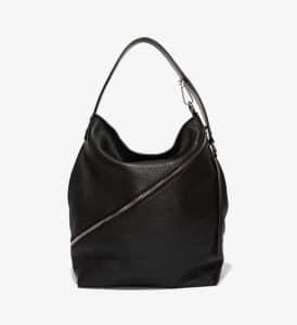 Proenza Schouler Black Pebbled Leather Medium Hobo Bag