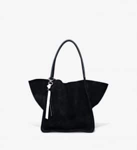 Proenza Schouler Black Suede Extra Large Tote Bag