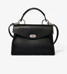 Proenza Schouler Black/White Hava Medium Top Handle Bag