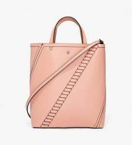 Proenza Schouler Blush Mini Grain Hex Tote Bag