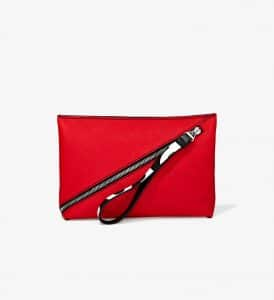 Proenza Schouler Cardinal Pebbled Leather Zip Pouch Bag