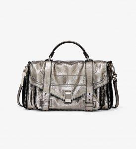 Proenza Schouler Dark Silver Zip PS1+ Medium Bag