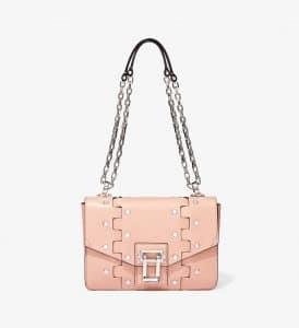 Proenza Schouler Deep Blush Studded Hava Chain Shoulder Bag