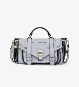 Proenza Schouler Dove Grey Zip PS1+ Tiny Bag