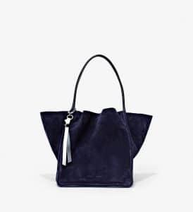 Proenza Schouler Indigo Suede Extra Large Tote Bag