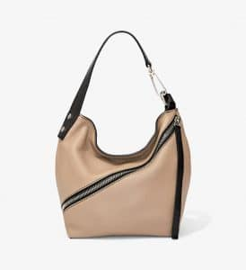Proenza Schouler Light Taupe Pebbled Leather Small Hobo Bag