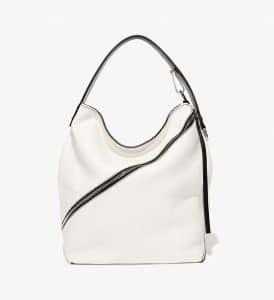 Proenza Schouler Optic White Pebbled Leather Medium Hobo Bag