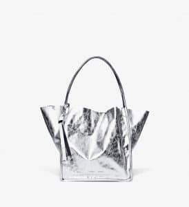 Proenza Schouler Silver Metallic Extra Large Tote Bag