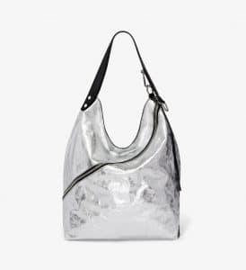 Proenza Schouler Silver Metallic Large Hobo Bag