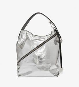 Proenza Schouler Silver Metallic Medium Hobo Bag