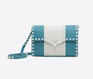 Valentino Azure Free Rockstud Small Shoulder Bag