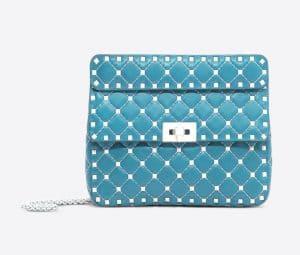 Valentino Azure Free Rockstud Spike Medium Chain Bag