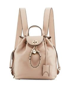 Valentino Beige Twiny Backpack Bag