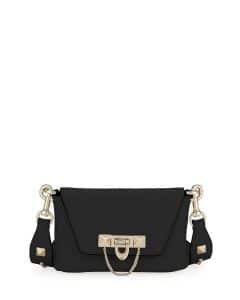 Valentino Black Demilune Crossbody:Belt Bag