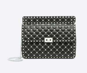 Valentino Black Free Rockstud Spike Chain Bag