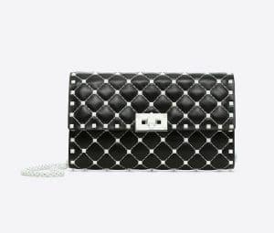 Valentino Black Free Rockstud Spike Chain Shoulder Bag