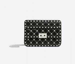 Valentino Black Free Rockstud Spike Small Chain Bag