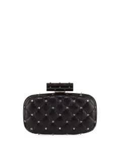 Valentino Black Rockstud Spike Minaudiere Bag