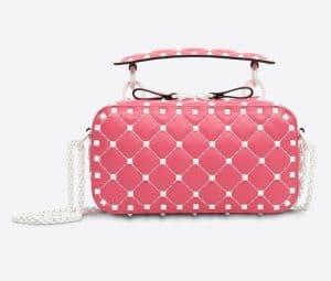 Valentino Bright Pink Free Rockstud Spike Camera Bag