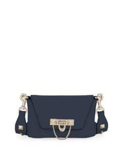 Valentino Dark Blue Demilune Crossbody:Belt Bag