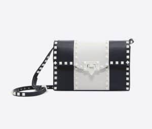 Valentino Dark Blue Free Rockstud Small Shoulder Bag