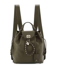 Valentino Green Twiny Backpack Bag