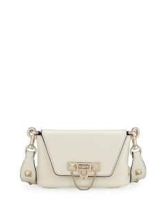Valentino Ivory Demilune Crossbody:Belt Bag