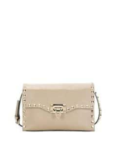 Valentino Ivory Rockstud Medium Shoulder Bag