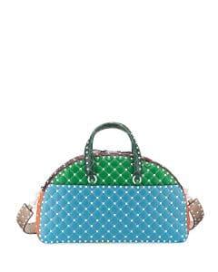 Valentino Multicolor Free Rockstud Spike Bowling Bag