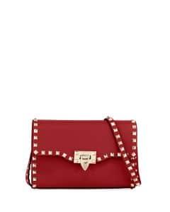Valentino Red Rockstud Medium Shoulder Bag