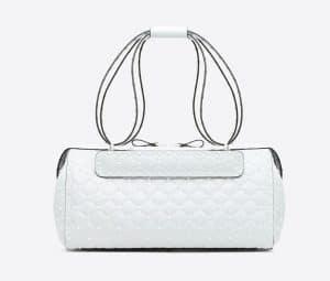 Valentino White Free Rockstud Spike Duffle Bag