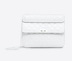 Valentino White Free Rockstud Spike Medium Chain Bag