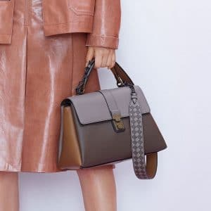 Bottega Veneta Gray/Brown Piazza Bag - Pre-Fall 2018