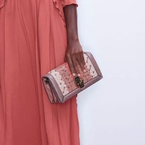 Bottega Veneta Pink Intrecciato Knot Clutch Bag - Pre-Fall 2018