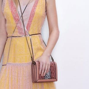 Bottega Veneta Pink Snakeskin Montebello Bag - Pre-Fall 2018