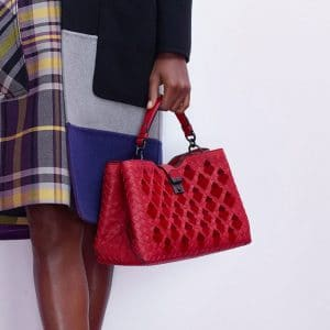 Bottega Veneta Red Intrecciato Roma Bag - Pre-Fall 2018