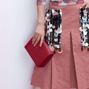 Bottega Veneta Red Studded Montebello Bag - Pre-Fall 2018