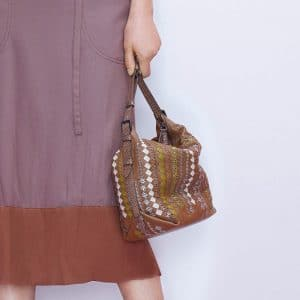 Bottega Veneta Tan/Multicolor Intrecciato Hobo Bag - Pre-Fall 2018