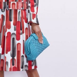 Bottega Veneta Turquoise Intrecciato and Perforated The Lauren 1980 Clutch Bag - Pre-Fall 2018