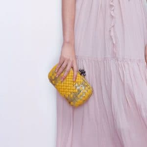Bottega Veneta Yellow/Gold Knot Bag - Pre-Fall 2018